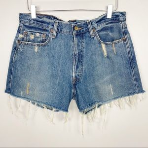LEVI'S Distressed Denim Cutoffs M Jean Shorts